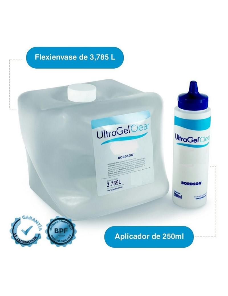 GEL PARA ULTRASONIDO ULTRA GEL CLEAR  (Presentación  3.785 lt. Con un aplicador)